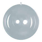 Ball plastic, 2 halves, to fill Ø 8cm Color: clear