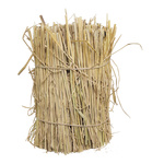 Bale of straw round, real straw Ø 30cm, 40cm Color:...