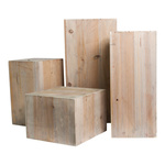 Wooden boxes, cuboid 4pcs./set, nested 40x20cm, 35x15cm,...