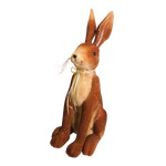 Rabbit, sitting styrofoam covered with fabric, bow made...