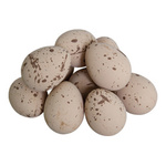 Peewit egg 12pcs./bag, with straw, plastic 5x4cm Color:...