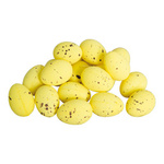 Peewit egg 20pcs./bag, with straw, plastic 3,5x2,5cm...