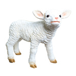 Lamb, standing polyresin, for in- and outdoor 45x35x17cm...