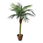 Phoenix palm in pot x11, 523 leaves, artificial silk, PVC...