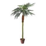 Phoenix palm in pot x14, 782 leaves, artificial silk, PVC...