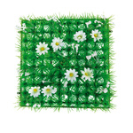 Grass tile »Anemones« PVC, artificial silk 25x25cm Color:...