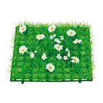 Grass tile »Daisies« plastic, artificial silk 25x25cm...