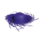 Straw hat natural material Ø 40cm Color: purple