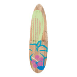 Surfboard wood, with stand 115x30cm Color: green/brown