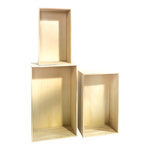 Wooden presenters set with 3 pieces, rectangular, max....