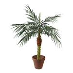 Phoenix palm in pot x8, 328 leaves, artificial silk, PVC...