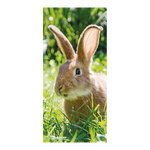 Banner »Rabbit« paper 180x90cm Color: green/brown
