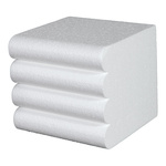 Hand towel stacking aid styrofoam, flame-resistant, 4...