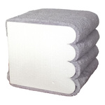 Hand towel stacking aid styrofoam, flame-resistant 6...