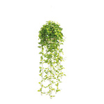 Hanging plant textile/plastic 105 cm Color: green/white