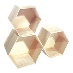 Wooden presenters wood, hexagonal, 3 pcs./set max....