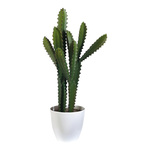 Cactus plastic, 3 arms 65x18 cm Color: green