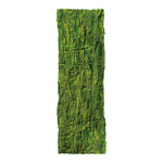 Bark with moss plastic 30x90 cm Color: green
