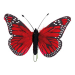 Butterfly feathers 13x20 cm Color: red