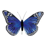 Butterfly feathers 18x30 cm Color: blue