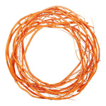 Willow wreath natural material Ø 35 cm Color: oange