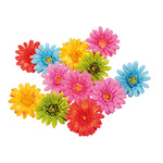 Gerbera heads 12pcs./bag, artificial silk Ø 11cm Color:...