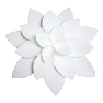 Water lily made of foam Ø 40cm Color: white