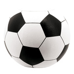 Football pedestal styrofoam 50x40cm Color: white/black