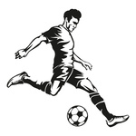 Display »Football Player« printed one one side, support...