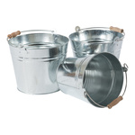 Zinc buckets with handles set of 3 pieces, nested...