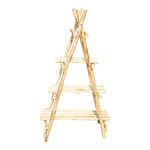 Wooden rack, foldable with 3 shelves 116x70cm Color:...