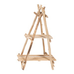 Wooden rack, foldable with 2 shelves 87x56cm Color:...