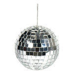 Mirror ball, silver styrofoam with glass discs 50g, Ø 6cm...