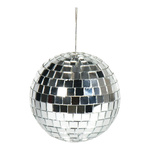 Mirror ball styrofoam with glass discs 80g, Ø 8cm Color:...