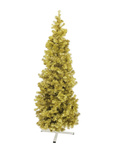 EUROPALMS Fir tree FUTURA, gold metallic, 210cm