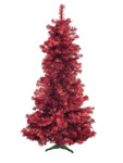 EUROPALMS Fir tree FUTURA, red metallic, 210cm
