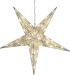 LED-3D Silhouette Star, silber, Outdoor, 48 war white...