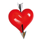 Heart with arrow 3D, made of Styrofoam 40x40x10cm Color: red