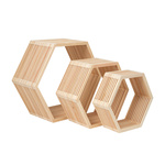 Wooden presenter set of 3, nested 42x37x18cm, 33x28x15cm,...