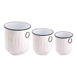 Metal buckets, set of 3 with 2 handles 26xØ23cm,...