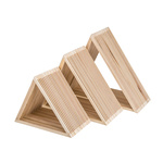 Wooden presenter set of 3, nested 42x42x18cm, 35x35x18cm,...