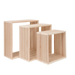 Wooden presenter set of 3, nested 45x45x18cm, 40x40x18cm,...