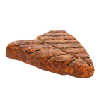 Steak grilled, 3D, made of Styrofoam 40x40x8cm Color: brown