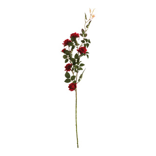 Rose spray with 5 rose heads 88cm Color: red/green