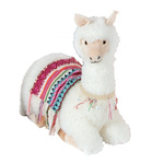 Lama lying 45cm Color: white