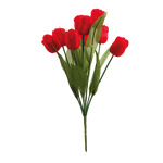 Bouquet of tulips 9-fold 48cm Color: red