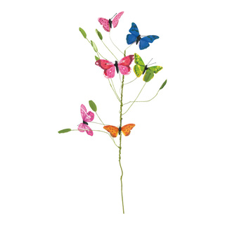 Butterfly branch with 6 butterflies 70cm Color: multi-coloured
