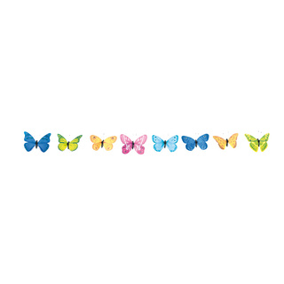 Butterflies 12-fold, with metal wire, in blister pack 11cm Color: multi-coloured