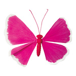 Butterfly paper with wire frame 90cm Color: pink/white