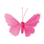Butterfly paper with wire frame 60cm Color: pink/white